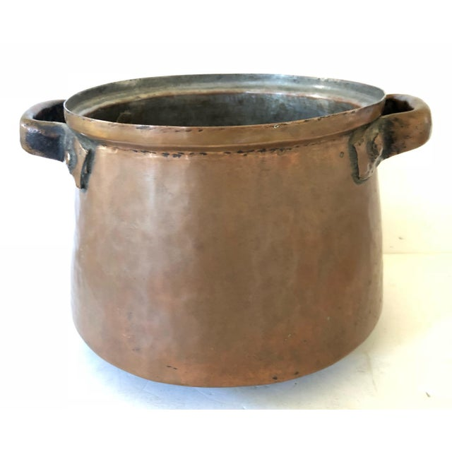 French Hand Wrought French Copper Pot and Colander For Sale - Image 3 of 7