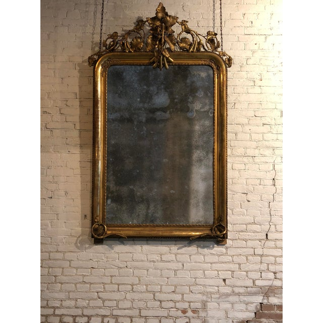 Glass 19th Century Mirror For Sale - Image 7 of 8