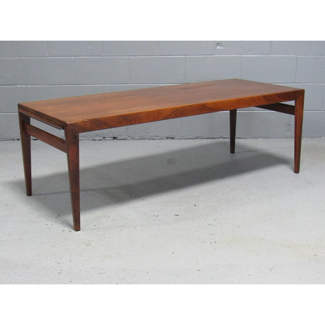 Mid-Century Modern Severin Hansen for Haslev Mid-Century Danish Rosewood Extending Coffee Table For Sale - Image 3 of 7