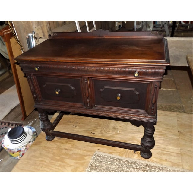 This exceptional Mahogany Sideboard is out of an early 1800's village home here in upstate NY. It's in remarkable...
