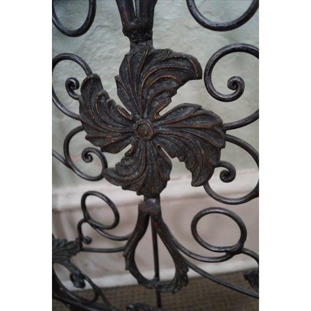 Maitland Smith Ornate Iron & Bronze Rococo Screen - Image 3 of 10