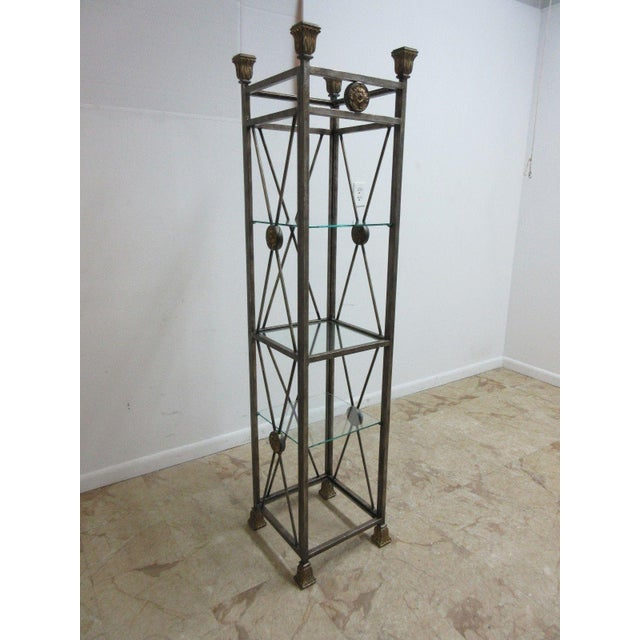 Maitland Smith French Regency Etagere Shelf. Great shape. Tight and sturdy, heavy and solid, minor wear and a few scratches.