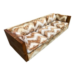 Milo Baughman Wood Case Sofa
