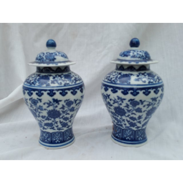 Orientalist Ginger Jars - A Pair - Image 2 of 5