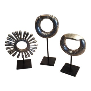 Silver & Black Decorative Room Accents - Set of 3