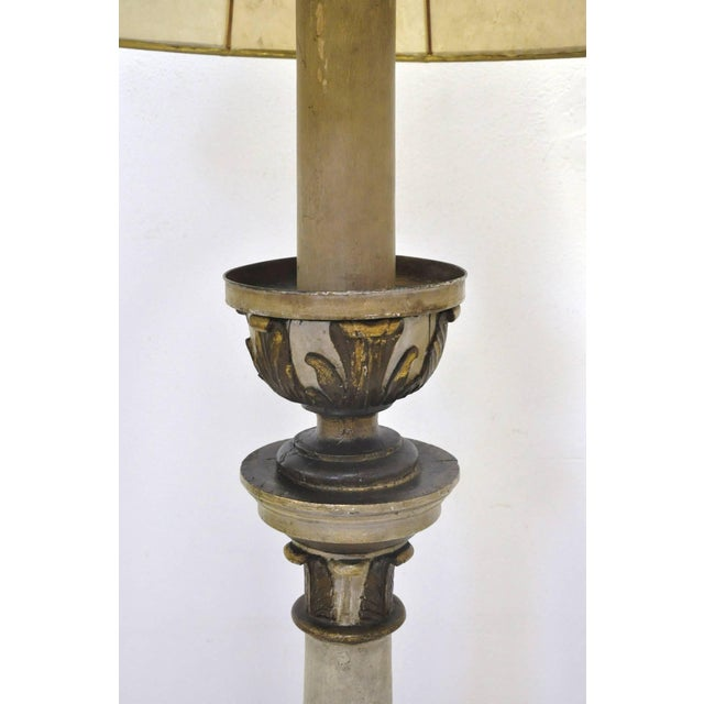 Mid 19th Century Mid-19th Century Italian Carved and Painted Floor Lamp For Sale - Image 5 of 7
