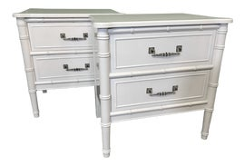 Image of Faux Bamboo Nightstands
