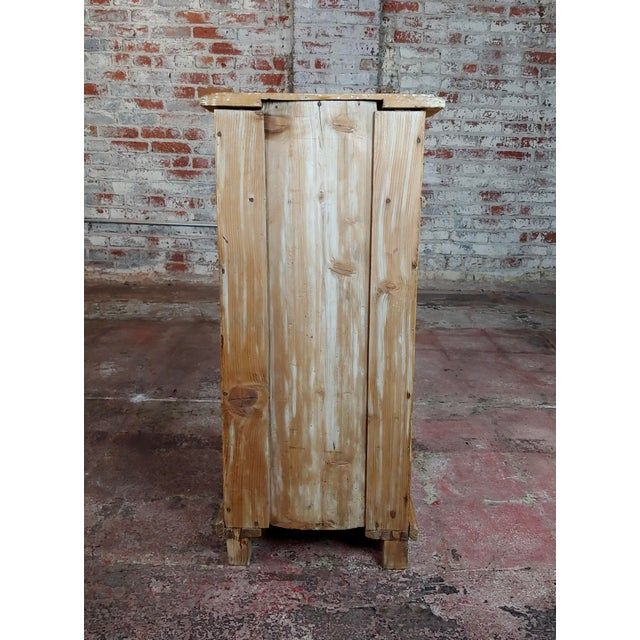 Antique Pine Cabinet Stand For Sale - Image 9 of 10