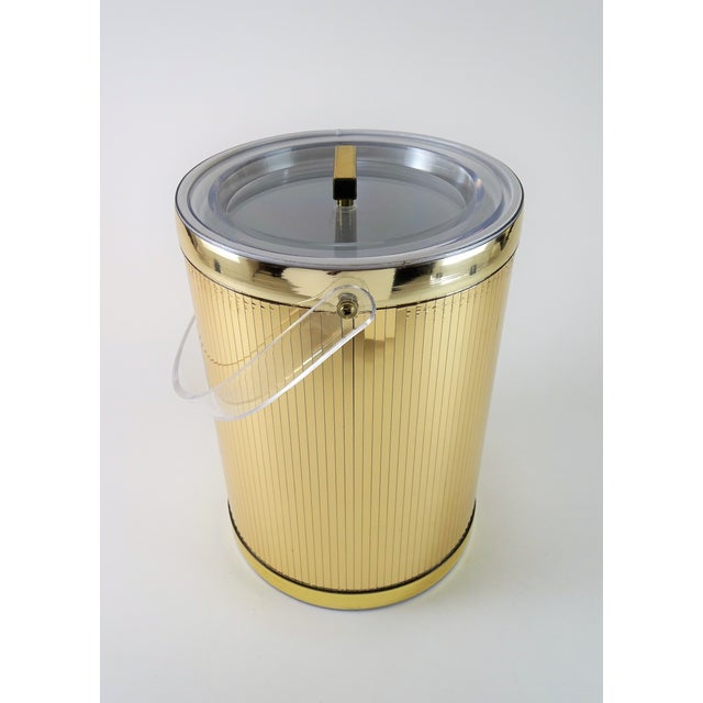 Hollywood Regency Georges Briard Mid-Century Modern Gold Ice Bucket For Sale - Image 3 of 13
