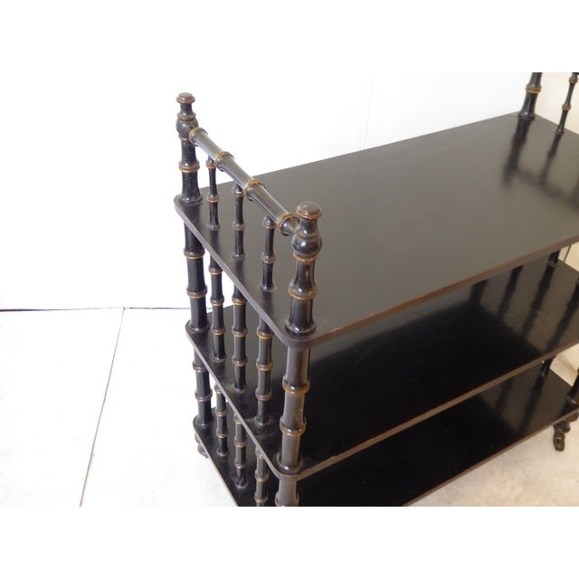 Traditional Antique Regency Style Laquered Etagere For Sale - Image 3 of 5