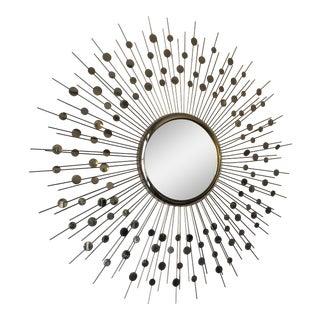 Mid-Century Style Sunburst Mirror For Sale