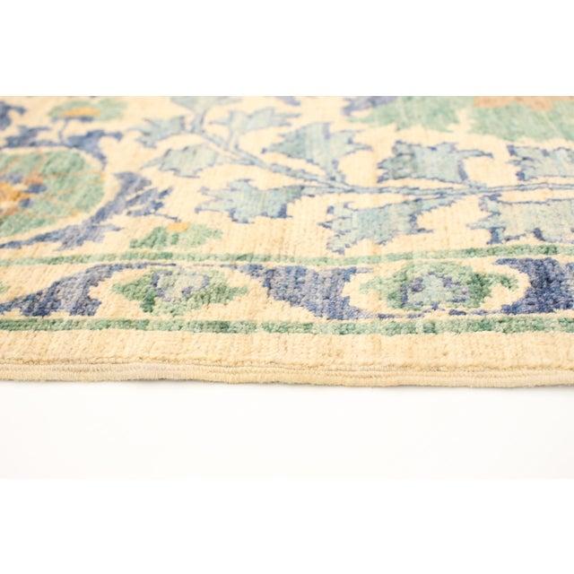 "Uzbek Folk Design Handmade Wool Rug-8'x10"" For Sale - Image 6 of 8"