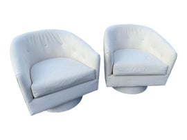 Image of White Lounge Chairs