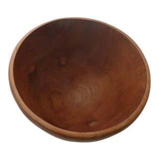 Mid Century Walnut Salad Bowl