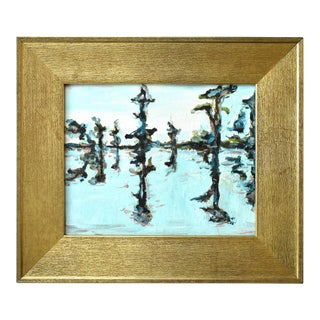 Contemporary Abstract Painting in a Gold Frame For Sale
