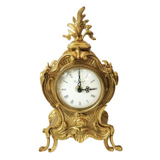 French Louis XV Style Shelf Clock