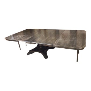 19th Century English Regency Dining Table With Leaves For Sale