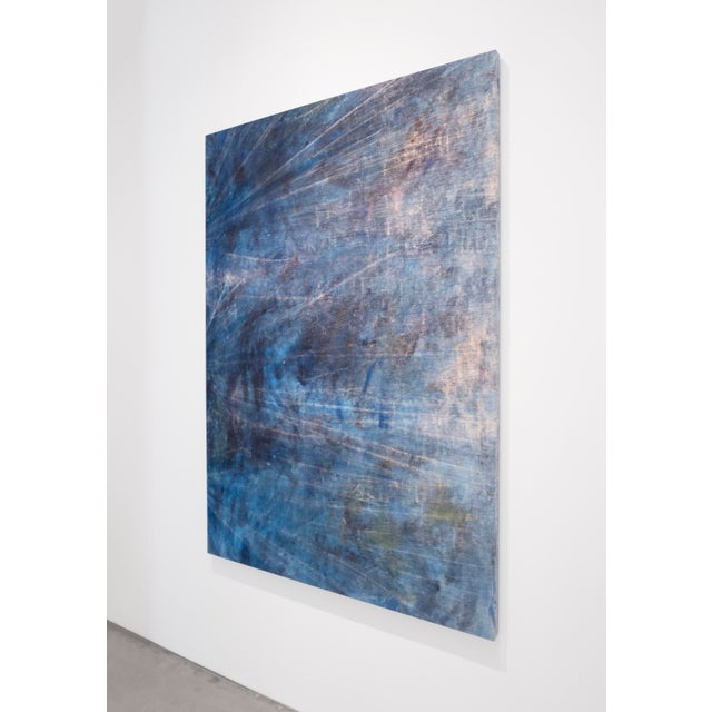 Cole Sternberg, 'Rotational Moments Guided by a Sand Bar,' 2018, Mixed Media on Linen, 50 X 70 Inches For Sale - Image 4 of 5