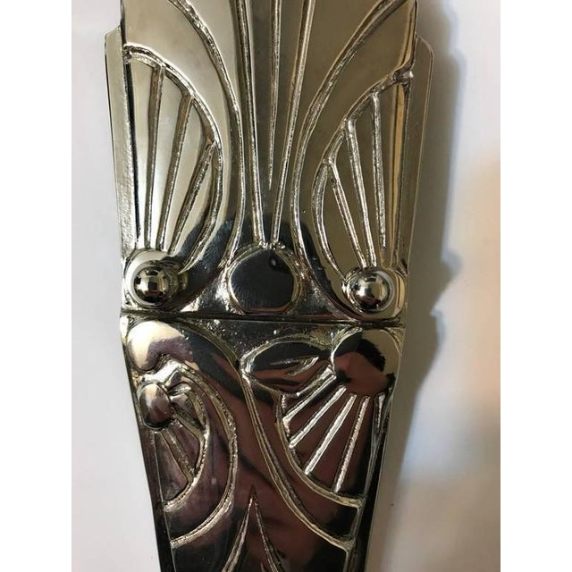 French Art Deco Sconces with Skyscraper Motif - A Pair - Image 6 of 10