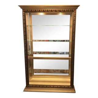 Pulaski Furniture Gold Framed Wood Lighted Display Cabinet