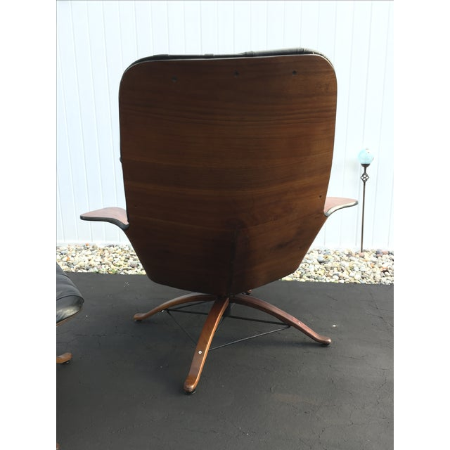 George Mulhauser for Plycraft Luxe Lounge Chair and Ottoman - Image 9 of 9