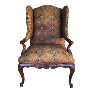 Vanguard Sultana French Provincial Wing Back Arm Chair For Sale