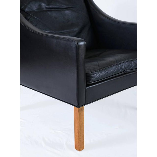 Borge Mogensen Model #2207 Leather Lounge Chair - Image 8 of 10