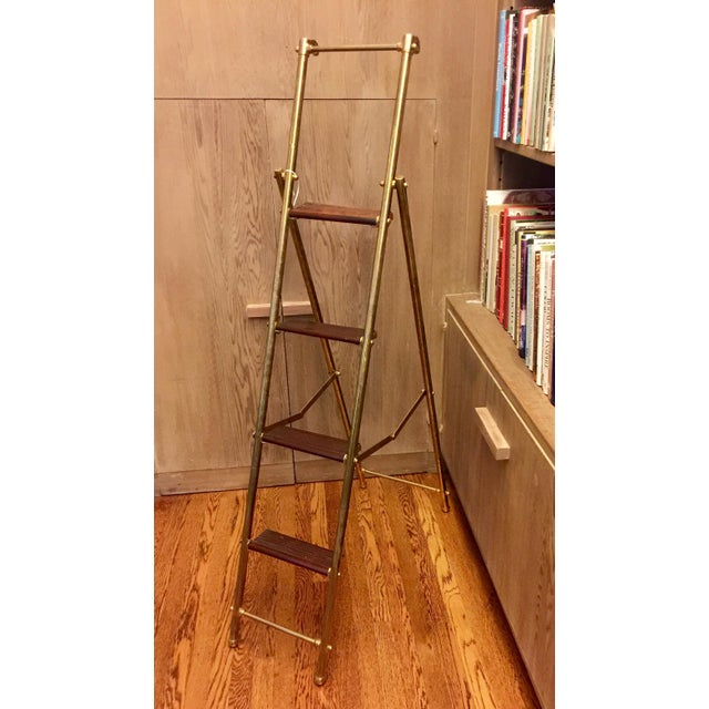 English Folding Library Ladder - Image 2 of 6
