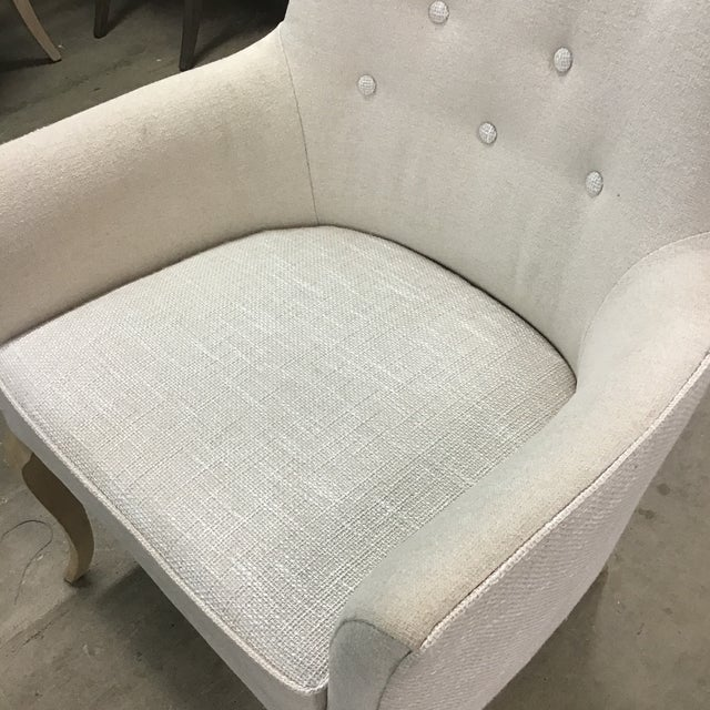 A Secret Warehouse Anais Hollywood Regency Tuffed Arm Chair For Sale - Image 4 of 6