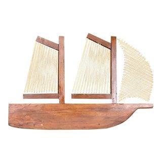 Vintage Handmade Sailboat String Art For Sale