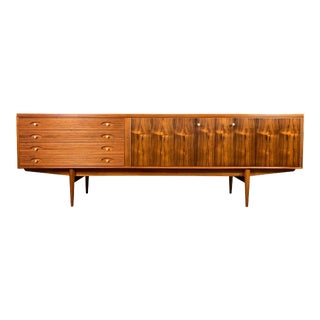 """Vintage British Mid Century Modern Mahogany """"Hamilton"""" Credenza by Robert Heritage for Archie Shine For Sale"""