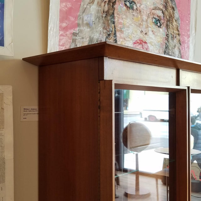 Vintage Mid-Century Modern Display Cabinet With Bi-Fold Doors For Sale In Seattle - Image 6 of 13