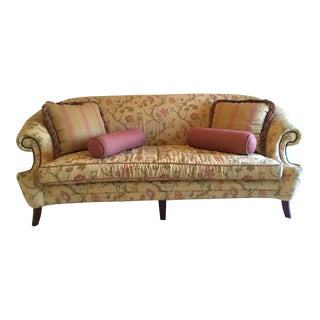 Vanguard Floral Upholstered Sofa For Sale