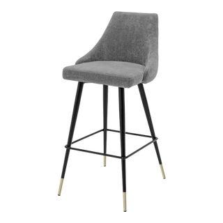 Gray Upholstered Bar Stool | Eichholtz Cedro For Sale