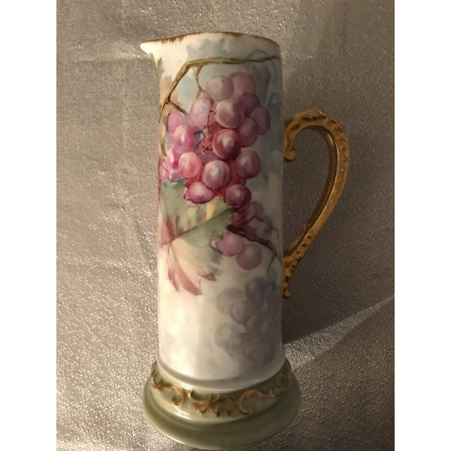 English French Limoges Porcelain Pitcher For Sale - Image 3 of 7