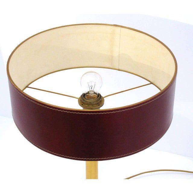 Jacques Adnet Leather-Clad Table Lamp - Image 5 of 8