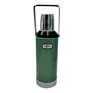 Industrial Design Aladdin Stanley Army Drab Thermos For Sale