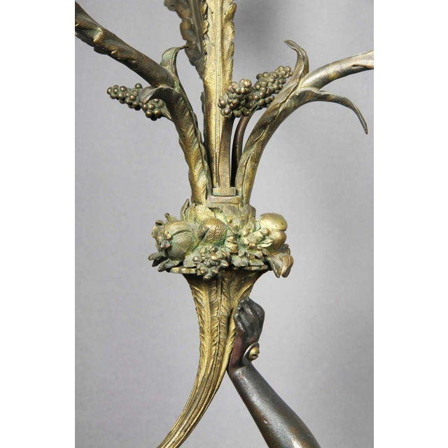 Pair of Louis XVI Bronze and Ormolu Candelabra For Sale In Boston - Image 6 of 10