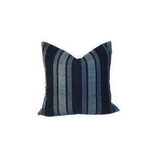 Vintage Indigo Linen Pillow
