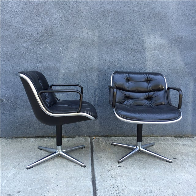 Lounge Chairs by Charles Pollock for Knoll - Pair - Image 4 of 10