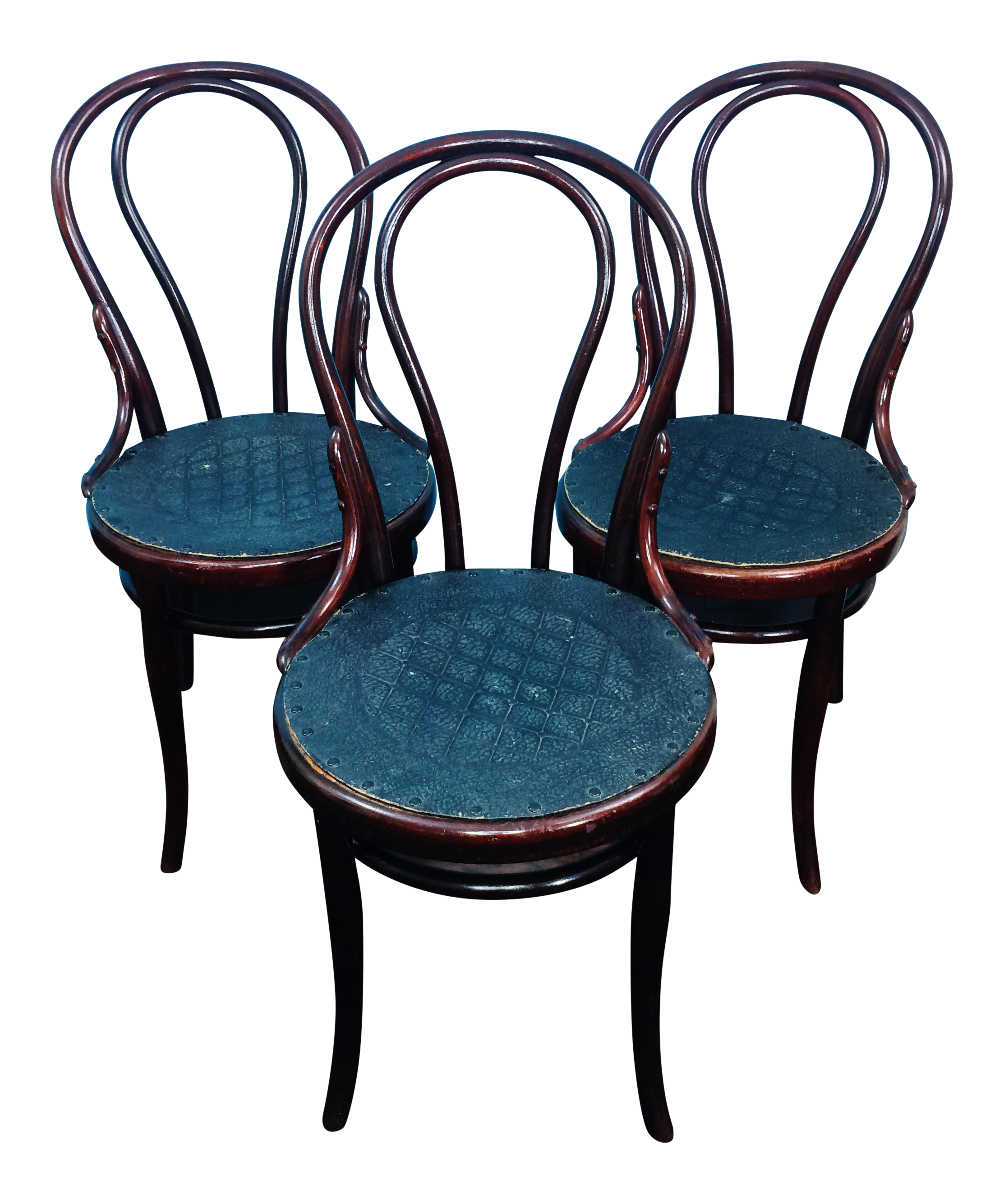 Antique Thonet Austria Bentwood Cafe No 18 Chairs   Set Of 3