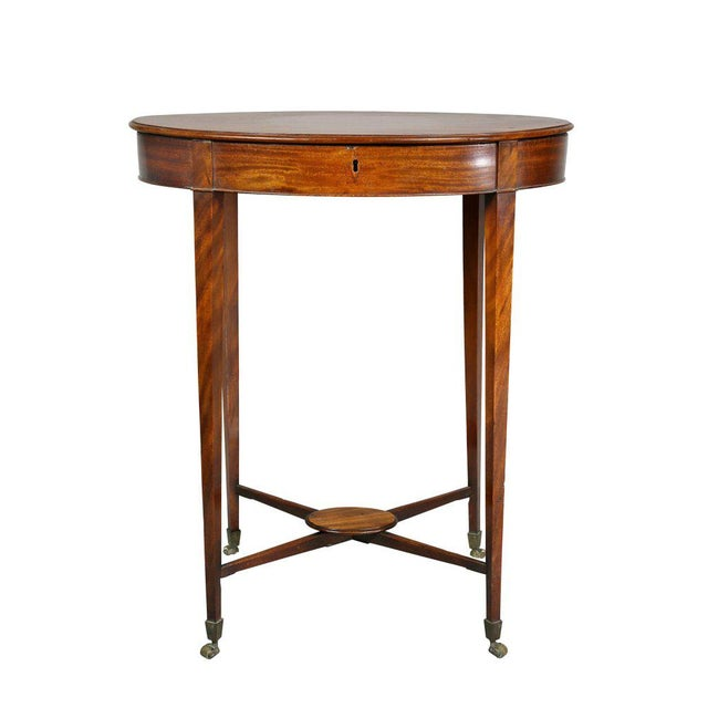 George III Mahogany Work or End Table For Sale - Image 9 of 9