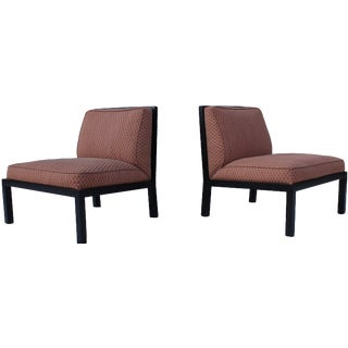 Michael Taylor for Baker Slipper Chairs - A Pair For Sale
