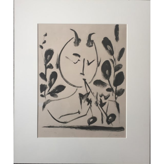 "Pablo Picasso 1948 ""Faune aux Branchages"" Lithograph - Image 2 of 5"