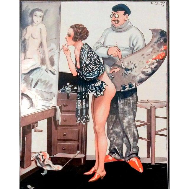 "1926 La Vie Parisienne ""Posing Pretty"" Prints - Pair - Image 7 of 10"