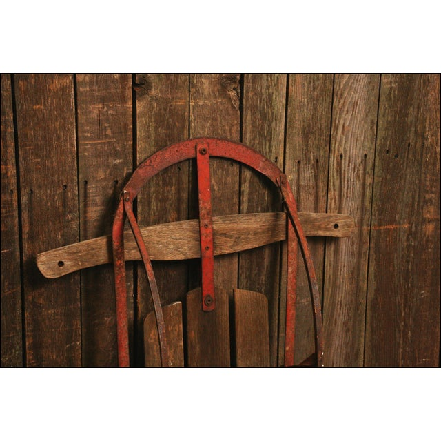 Vintage Weathered Wood & Metal Runner Sled -- Champion - Image 9 of 10
