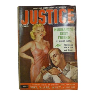 Justice May 1955 Vintage First Issue Mysteries