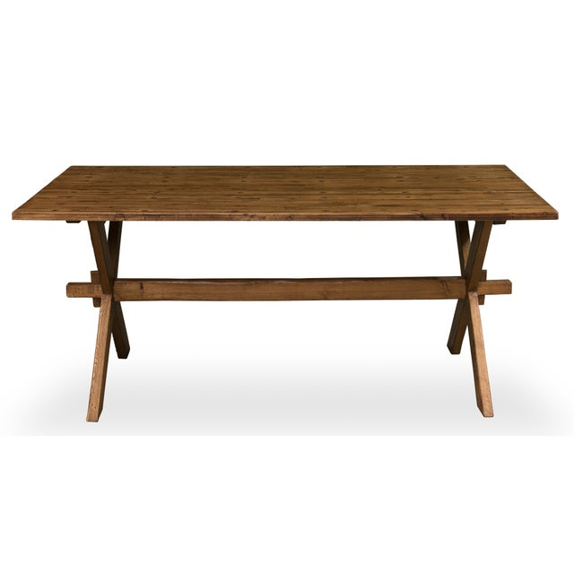 Country Vintage Sarreid LTD Truck Bed Dining Table For Sale - Image 3 of 6