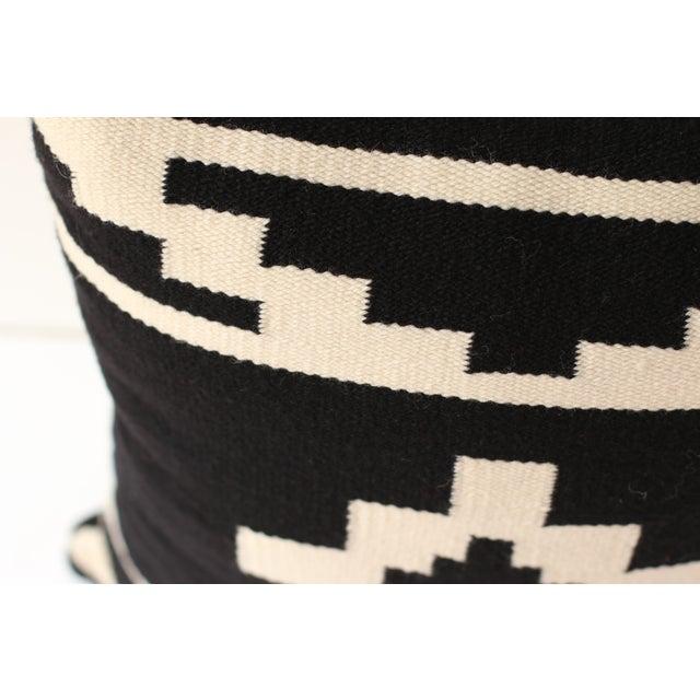 Reversible Peruvian Black & White Wool Pillow Case - Image 5 of 5