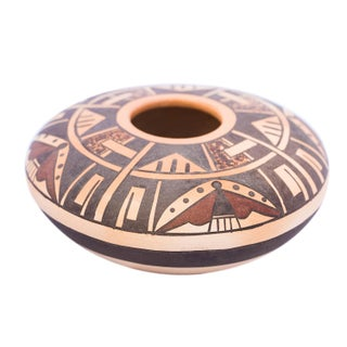 Native American Geometric Seed Bowl
